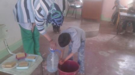مجموعة مدارس ابن زيدون بتولال تنظم حملة تحسيسية خاصة بالتربية على النظافة.