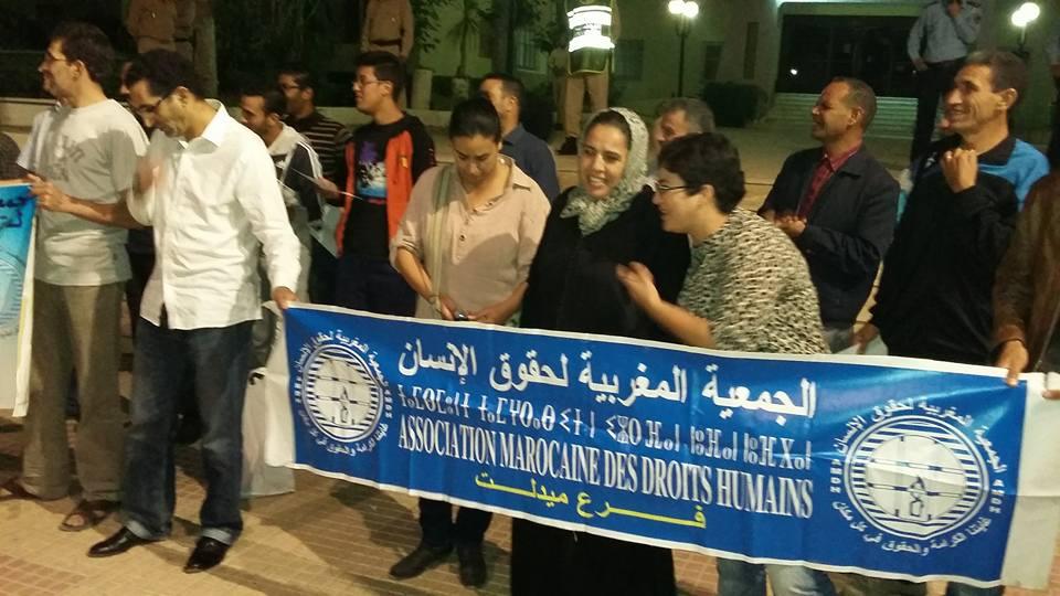 الجمعية المغربية لحقوق الانسان بميدلت تحيي الذكرى 36 لتاسيسها.
