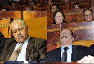 النائم على كرسي البرلمان