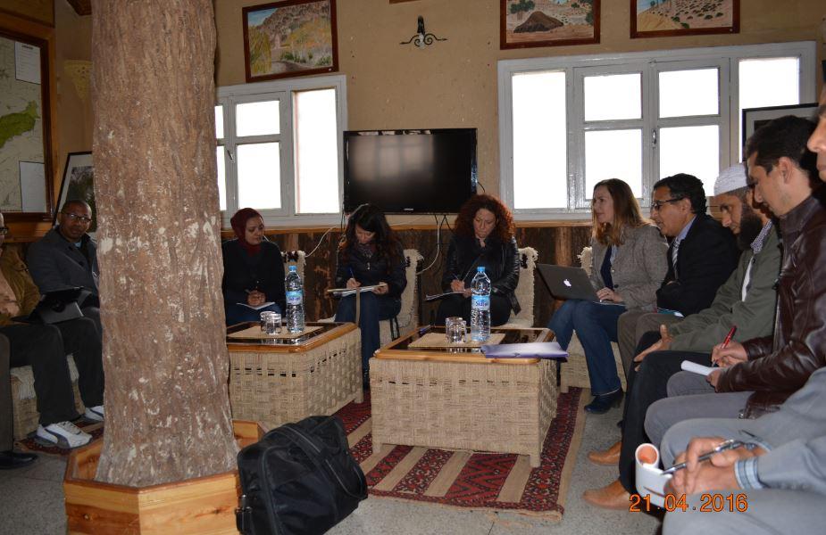 لقاء تواصلي في اطار مشروع الطاقة الريحية مع المجتمع المدني باقليم ميدلت