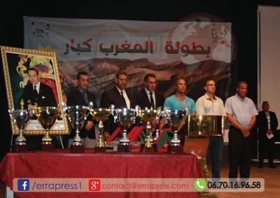 ابن ميدلت إبراهيم البريشي ينتزع بطولة المغرب كبار في رياضة كمال الاجسام