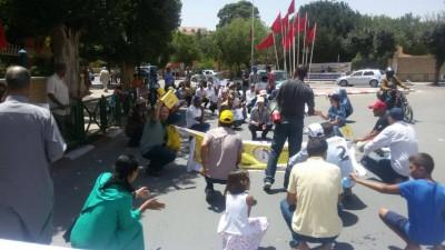 التنسيقية النقابية CDT-FDT-UMT بميدلت تنظم مسيرة احتجاجية وتتوعد الوزير حصاد بالتصعيد