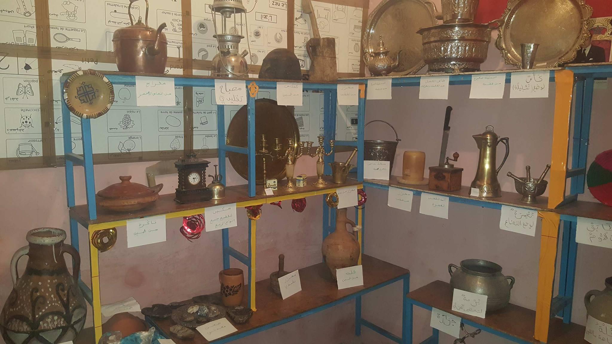 المعرض الخاص بالثقافة والتراث بروض الصفاء بحي ميملال بميدلت