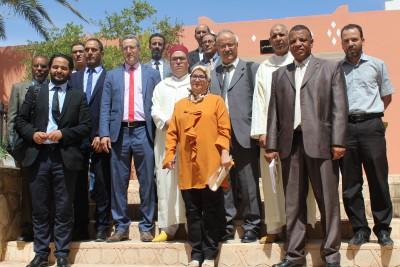 اللجنة الوزارية المكلفة بتتبع و مواكبة الدخول المدرسي تزور المديرية الإقليمية لورزازات