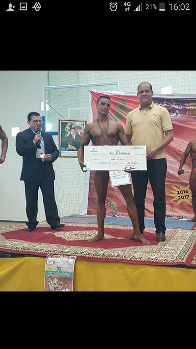 إبراهيم البريشي يشرف ميدلت في رياضة بناء الاجسام والليونة في بطولة كاس العرش