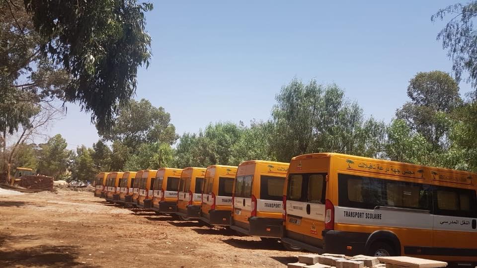 مكتب جهة درعة تافيلالت يسلم 150حافلة للنقل المدرسي