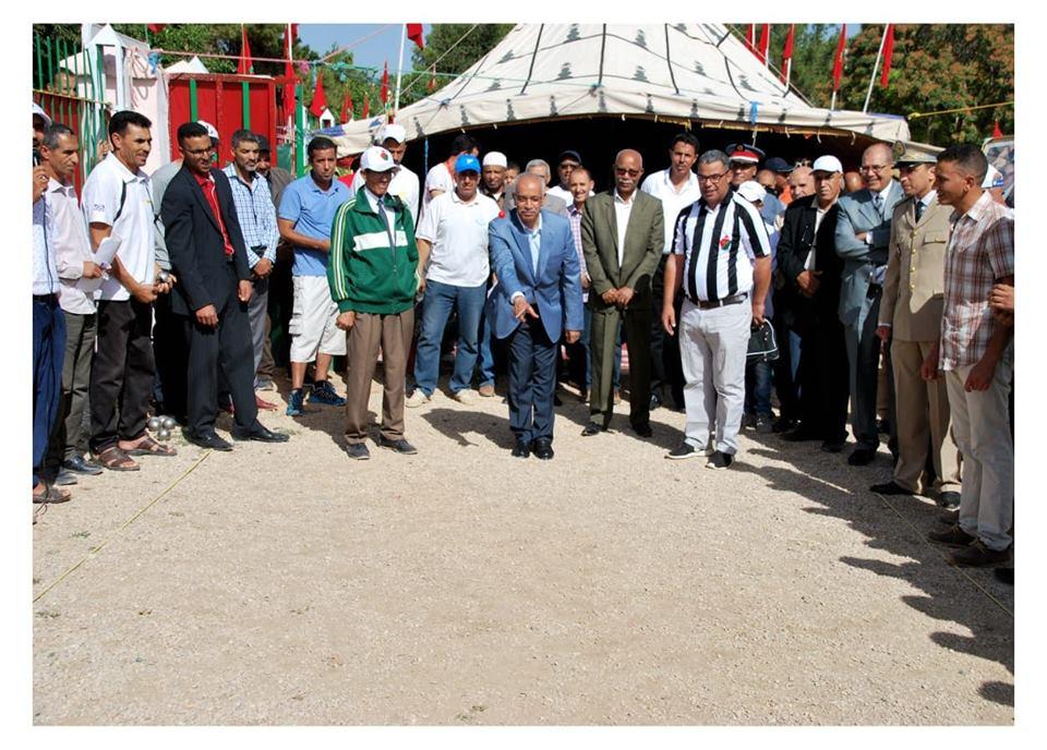 عامل الاقليم يشرف على اعطاء انطلاق دوري رسمي للكرة الحديدية بايتزر