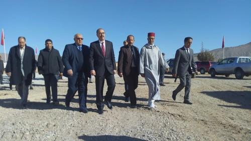عامل صاحب الجلالة على إقليم ميدلت بالنيابة يتفقد الأوراش الكبرى المهيكلة للتنمية بمدينة الريش: