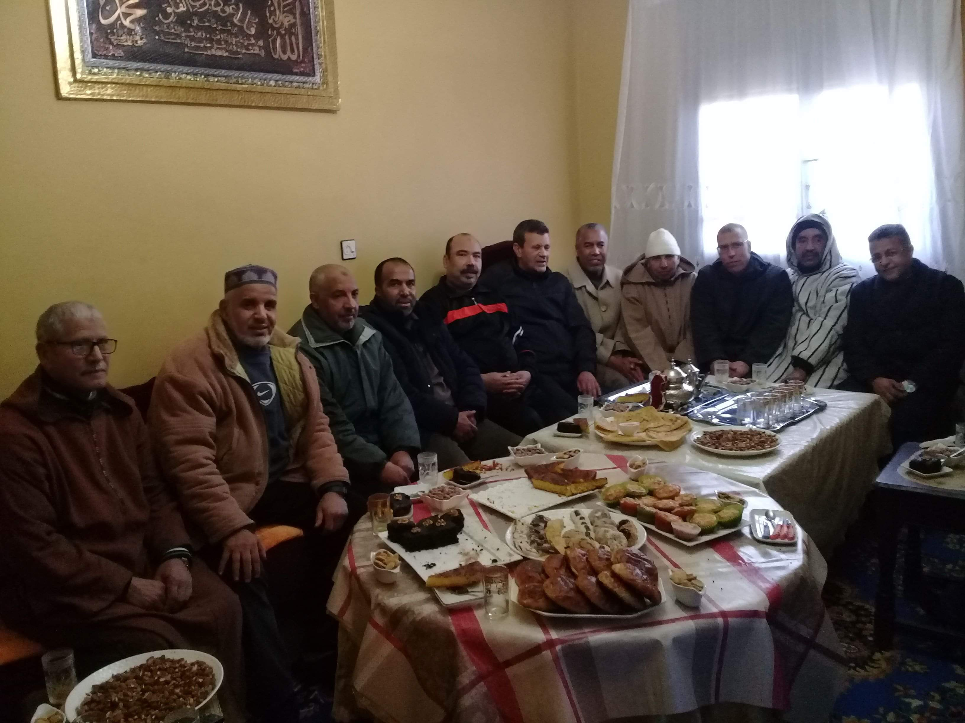 زيارة الأخ عبد الواحد الصالحي بمنزله بعد إجراء عملية جراحية