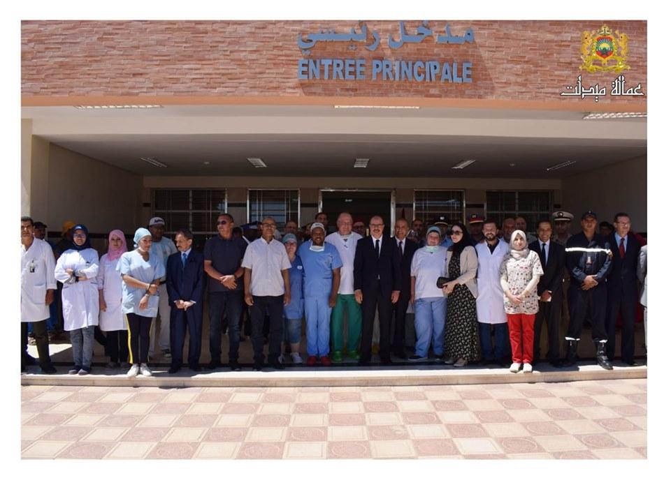 بلاغ حول زيارة السيد العامل للقافلة الطبية المنظمة من طرف مصالح وزارة الصحة لفائدة ساكنة الجماعة الترابية الريش و المناطق المجاورة.