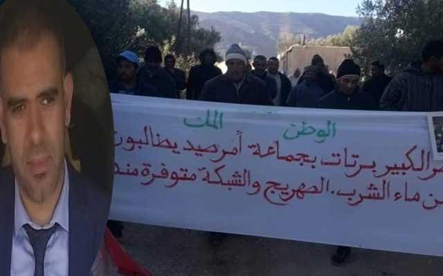 ميدلت..مسيرة احتجاجية لساكنة جماعة أمرصيد للمطالبة بالربط بشبكة الماء