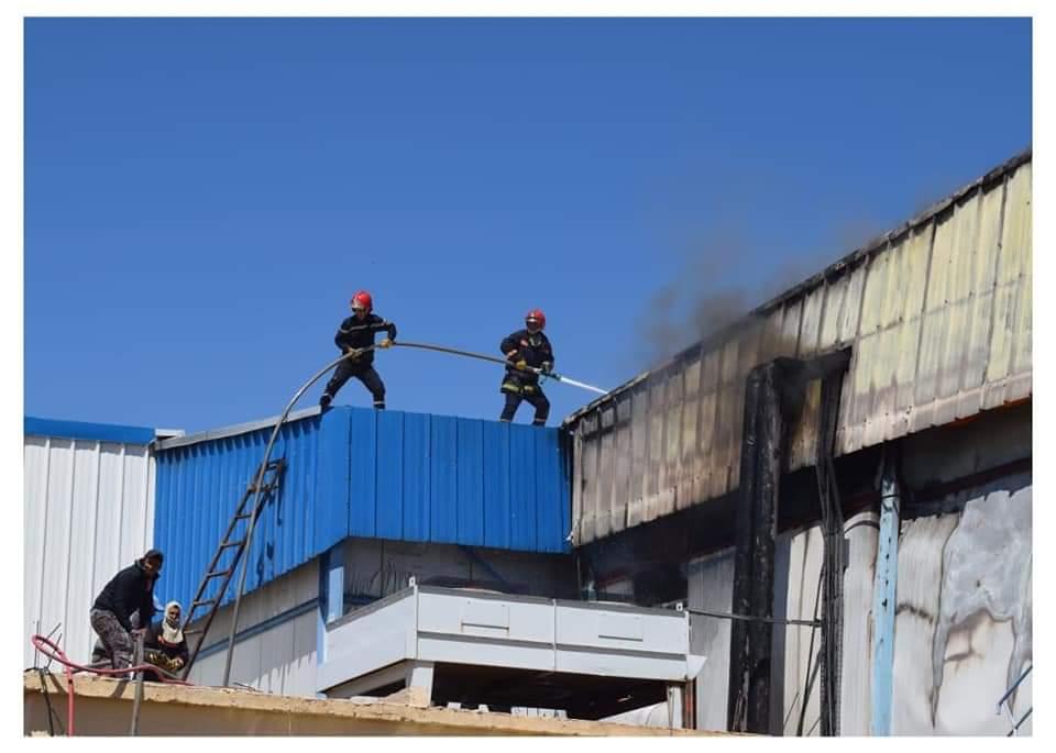عمالة ميدلت تستنفر كل الموارد لأطفاء حريق