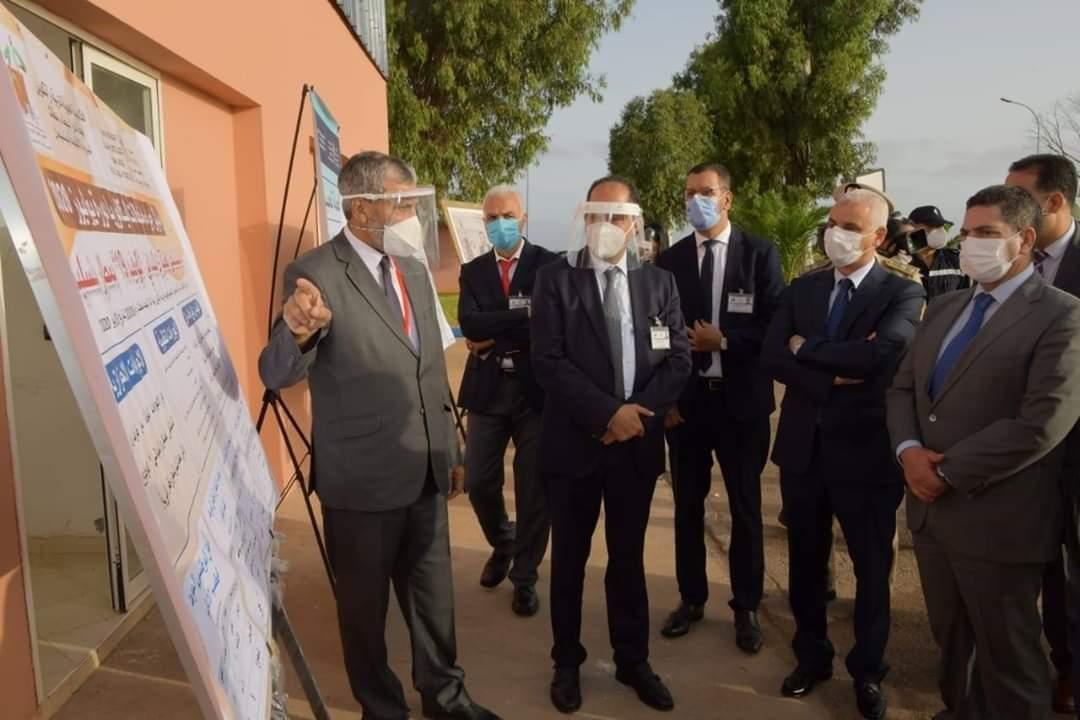 زيارة تفقدية لمركز الامتحان بالمستشفى العسكري الميداني بمطار بنسليمان