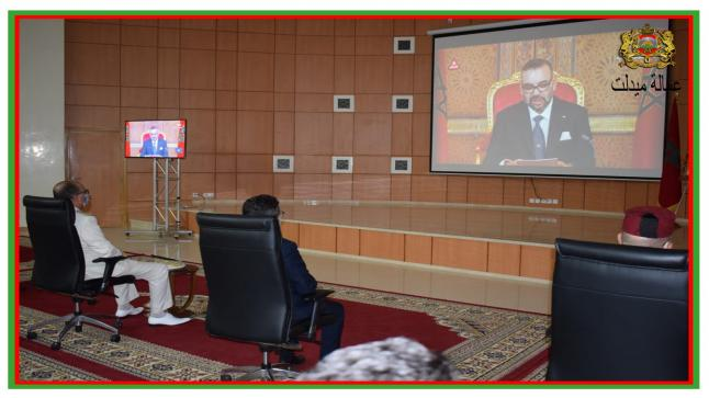 مراسيم الانصات للخطاب الملكي السامي بعمالة اقليم ميدلت بمناسبة الذكرى 22 لعيد العرش المجيد.
